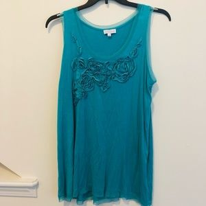 Tops - Joseph A. Flower and Mesh Detail Top Size XL